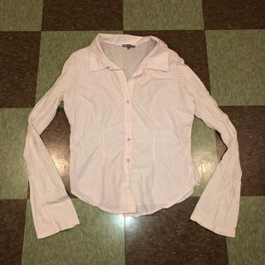 Jame Perse baby pink Button Up blouse 4 xl